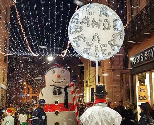 Déambulation pour les fêtes de Noël de Béziers